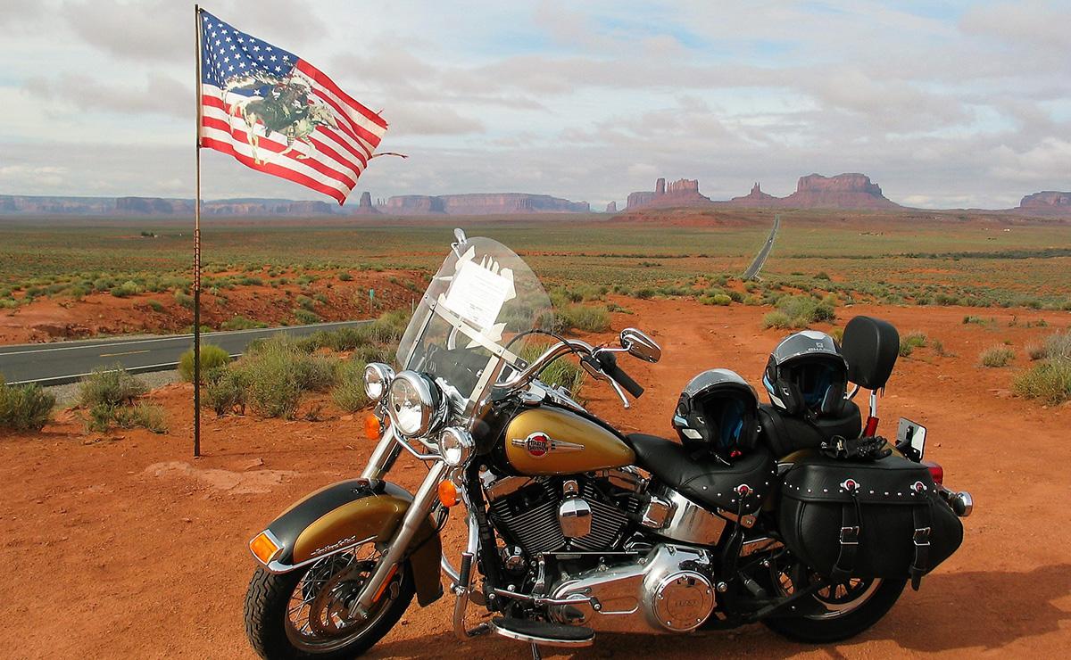 usa en harley davidson la route 66 voyage moto voyage moto harley davidson. Black Bedroom Furniture Sets. Home Design Ideas